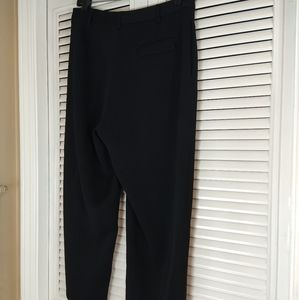 Yansi fugel black dress pants high rise cropped 8